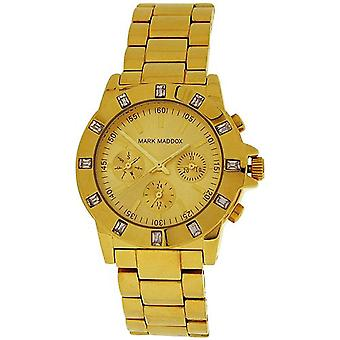 Mark Maddox Ladies Multifunction Dial Goldtone Bracelet Strap Watch MM3003-90