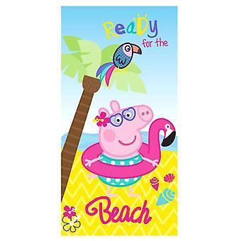 Peppa Pig, Serviette de bain - Prêt pour la plage