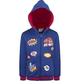 Fireman sam boys sweatjacket hoodie - navy