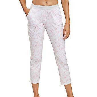 Rösch 1202029-16406 Women's Be Happy White Graphic Flower Pyjama Pant