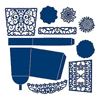 Tattered Lace Flower Pot Die Set