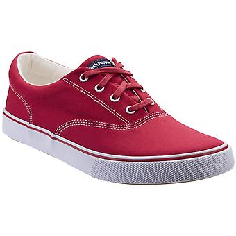 Hush puppies women's byanca lace up trainer red 297171