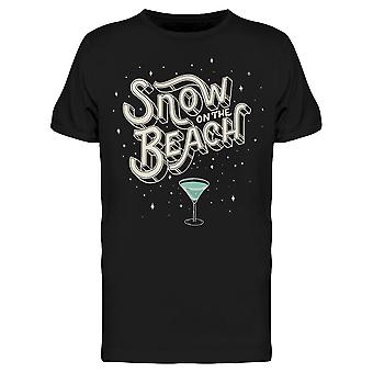Snow On The Beach Tee Men's -Image by Shutterstock Men's T-shirt