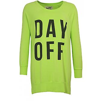 A Postcard from Brighton Lime Green Day Off Sweatshirt