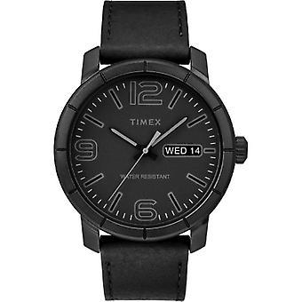 Tw2R64300, Timex Tw2R64300 Men'S Mod44 Black Leather Strap Watch