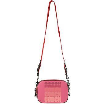 Coach Ezgl005009 Women's Fuchsia Leather Shoulder Bag