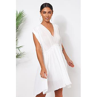 Grecian Chiffon Pleated Dress