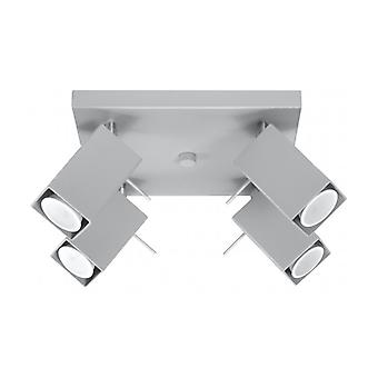 Merida Plafond Light Gray Steel 4 Ampoules