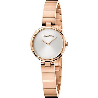 Calvin Klein K8G23646 Authentic Quartz Silver Dial Ladies Watch