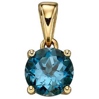 Elements Gold December Birthstone Pendant - Blue/Gold