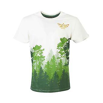 Zelda T Shirt Hyrule Forrest Sublimation Imprimer nouveau ajustement slim officiel homme