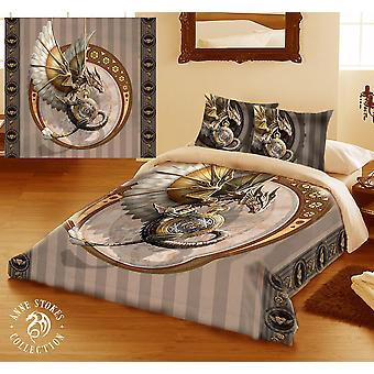 Steampunk dragon-duvet & pillow cover set superking/king