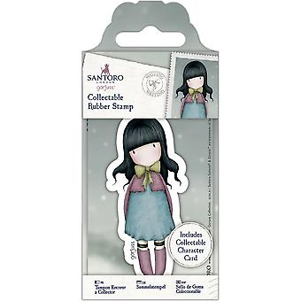 Gorjuss Collectable Mini Rubber Stamp No. 52 Waiting