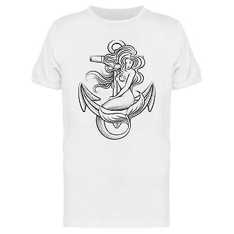 Mermaid On The Anchor Tee Men's -Image by Shutterstock