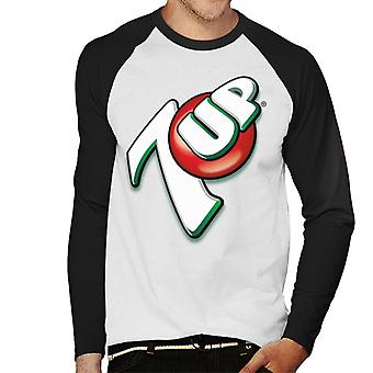 7up 00s Angular Logo Men 's Baseball Long Sleeved T-Shirt