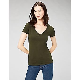 Brand - Daily Ritual Women's Featherweight Cotton Short-Sleeve V-Neck ...