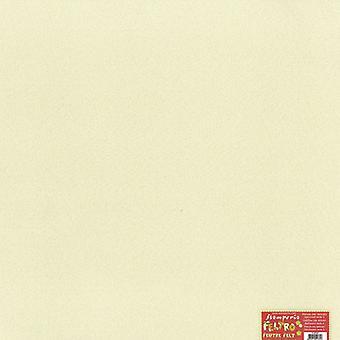 Filz Blatt Elfenbein (FLSP001)