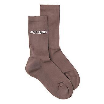 Jacquemus 206ac12206515850 Heren's Brown Cotton Socks