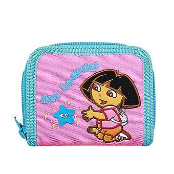 Zip Wallet - Dora the Explorer - Play With Stars Pink New 20400