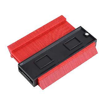 Medidor de contorno de plástico multifuncional de 10 pulgadas rojo
