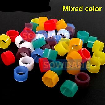 50 Pcs Multi Color- Autoclavable Dental Universal Silicone Instrument Color Code Ring Colorful Rings For Handpiece