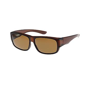 Sunglasses Unisex brown with brown lens VZ0026B