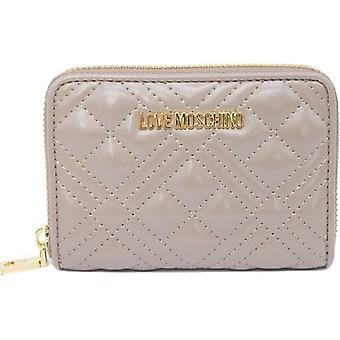 Love Moschino Small Quilted Zip Around Purse
