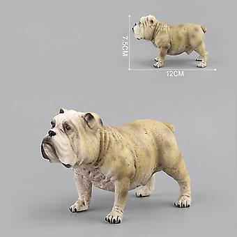 Simulation Plastic Animals Shar Pei Dog Bulldog Action Figure - Education Biology Props Decoration Adult Children Toy Biologia