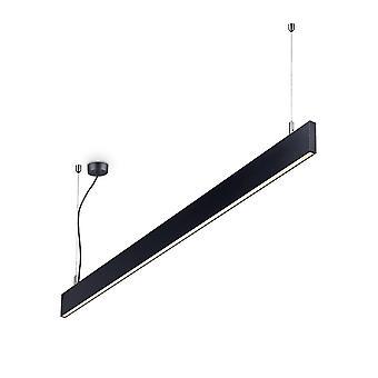 Ideal Lux LINUS - Integrierte LED Indoor Lineare Deckenleuchte 1 Light Black 3000K
