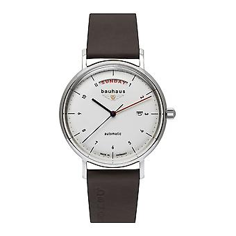 Bauhaus 2162-1 White Dial Automatic With Day Date Wristwatch