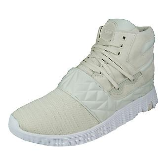 Supra Jagati Mens Casual Trainers / Hi Tops - Off White