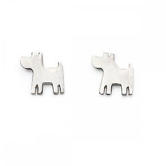 بدايات الاسترليني الفضة الكلب أقراط A2016