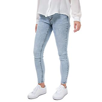 Frauen's Vero Moda Lydia Low Rise Skinny Jeans in Blau
