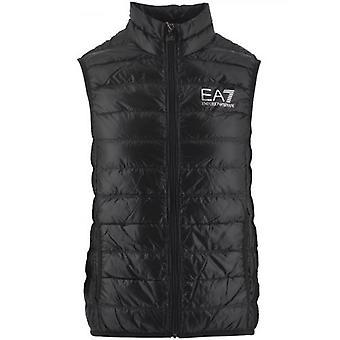 EA7 Black Down Filled Slim Fit Gilet