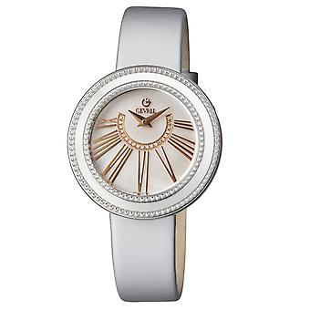 Gevril Women's 3245.1 Fifth Avenue Diamonds MOP Dial Harmaa Satiini Rannekello
