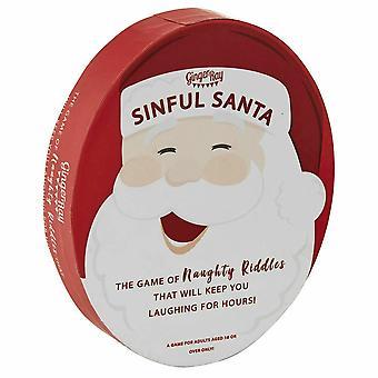 Santa Banta joulu kortti peli tuhma RIDDLES sileää täyte ainetta