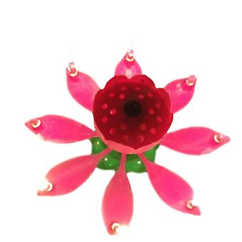 Innovative Party Candle - Musical Rotating Lotus Flower, Happy Birthday Candle