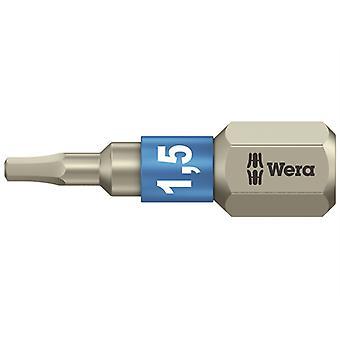 Wera 3840/1 TS Torsion rustfrit stål Indsæt Bit Hex 1,5 x 25mm WER071070