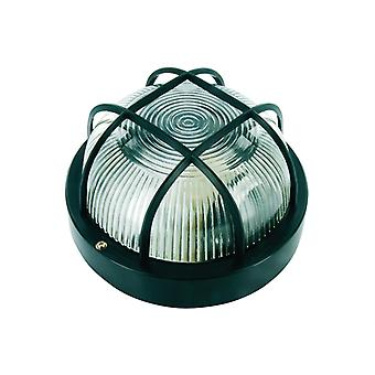 Byron Black Plastic Bulkhead Light - No Bulb BYRBE100Z