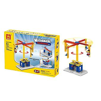3-in-1 Assembled Blocks Set- Machinery Building