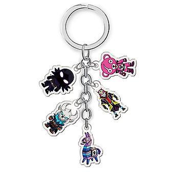Fortnite Key, Cute Cartoon Keychain Fortress Night Key -toys