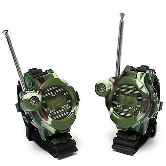 Walkie Talkies Watches - 7 In 1 Camouflage 2 Way Radios Mini Walky Talky &clock