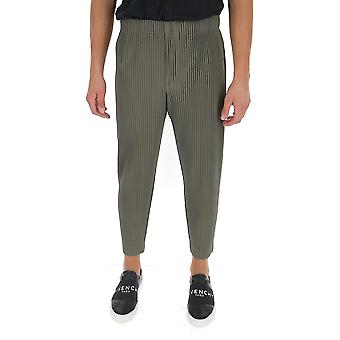 Homme Plissé By Issey Miyake Hp08jf10364 Men's Grey Polyester Pants