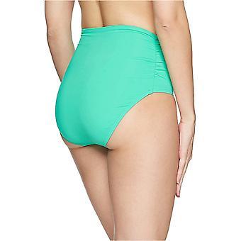 Anne Cole Frauen's hohe Taille zu falten über Shirred Bikini Bottom Badeanzug, Liv...