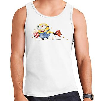 Despicable Me Bob The Minion Teddy Bear Pipoca Men's Vest