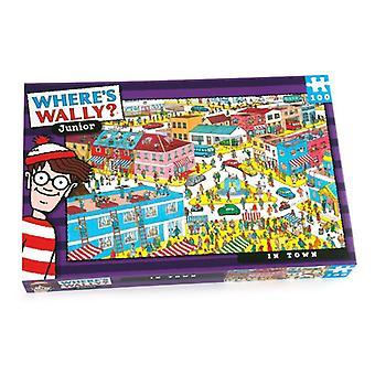 Onde's Wally Jigsaw Puzzle In Town 100 peças Idade 6+