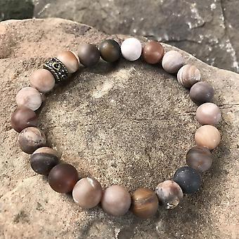 Wood Opalite Bracelet