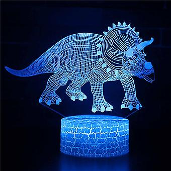 Child gift 3D Touch Light Night 7 colors remote control - Dinosaur #37