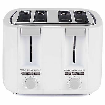 Progress 4 Slice Toaster mit variabler Browning Control Cancel Defrost Reheat