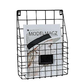 Wrought Iron Magazine Rack, Innovative Simple Wall Decorative Rack